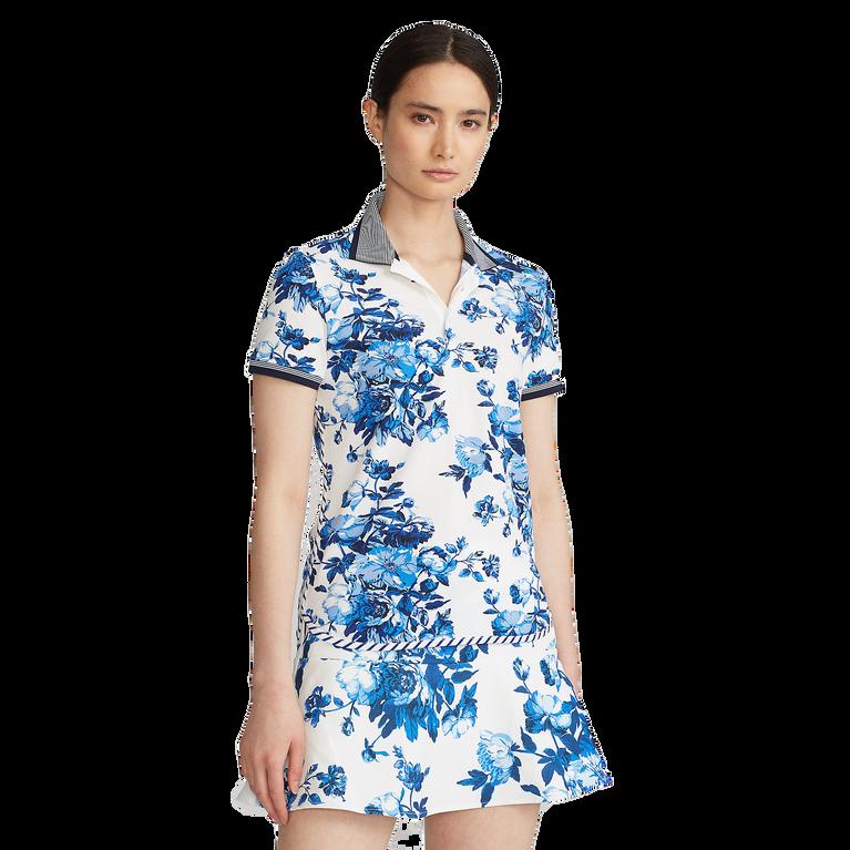 Porcelain Floral Print Short Sleeve Polo