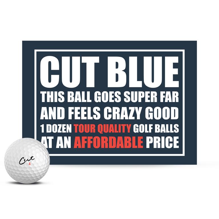 Cut Blue Golf Balls