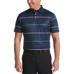 Horizontal Stripe Short Sleeve Golf Polo Shirt