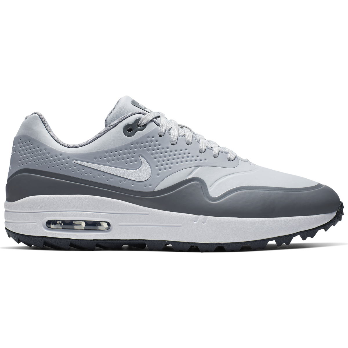 official photos 296cf d46f4 Air Max 1 G Men  39 s Golf Shoe - White Grey Zoom Image