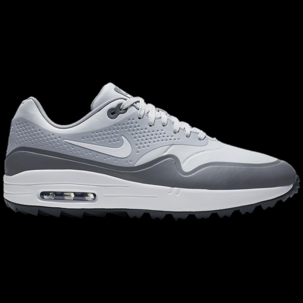 143e7fe9ca Nike Air Max 1 G Men's Golf Shoe - White/Grey | PGA TOUR Superstore