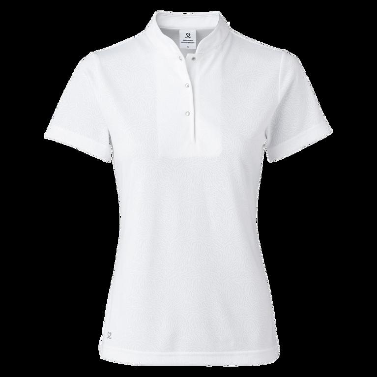Uma Sleeveless Jacquard Polo Shirt