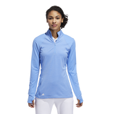 Minted Blues Collection: Half-Zip Solid Pull Over Jacket