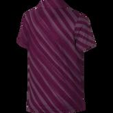 Girls Short Sleeve Diagonal Stripe Polo