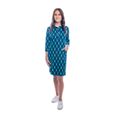 Raleigh 3/4 Sleeve Linked Up Print Dress