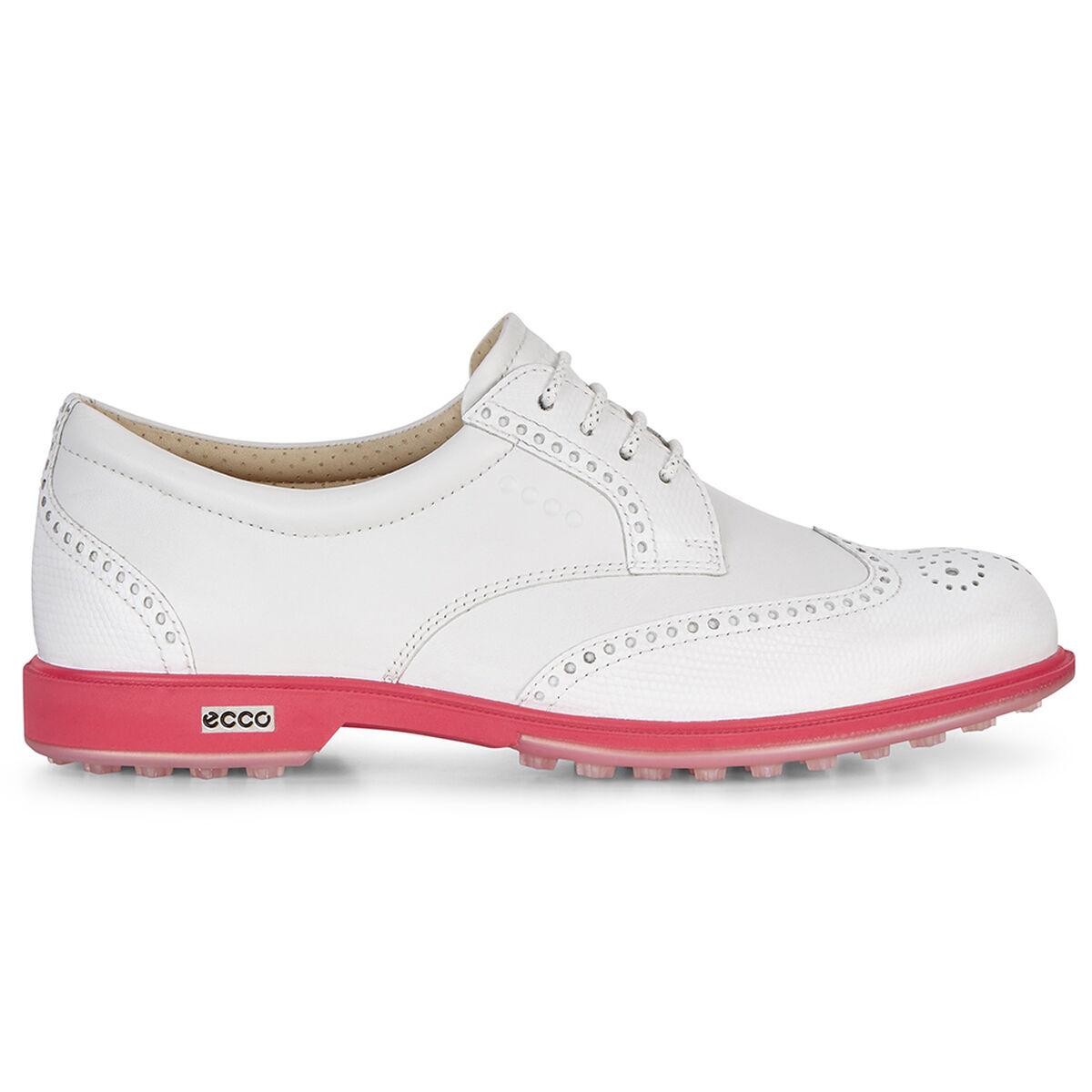 9981ce9d85191e ECCO Classic Hybrid Women's Golf Shoe - White/Pink | PGA TOUR Superstore