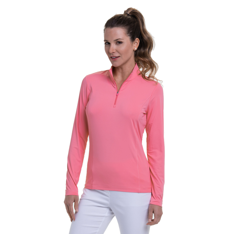 Cargo Chic Collection: Long Sleeve Quarter Zip Pull Over