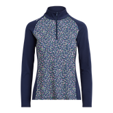 Alternate View 4 of Floral Print Long Sleeve Airflow Quarter Zip Pull Over