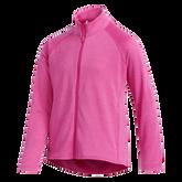 Alternate View 1 of Girls Long Sleeve Full Zip  Heathered Jacket