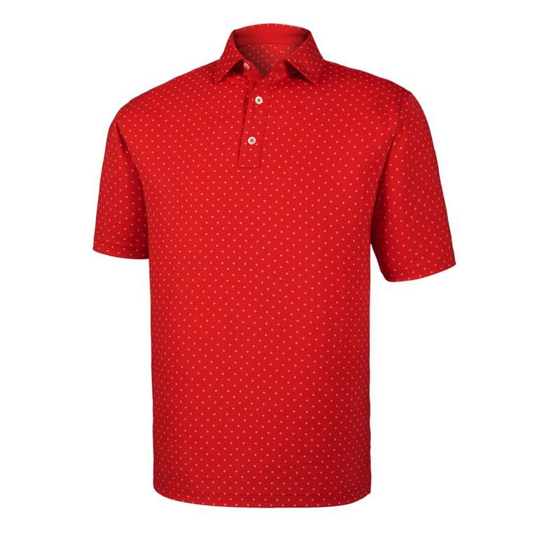Diamond Print Lisle Self Collar Polo