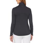 Alternate View 1 of Long Sleeve Fleece Heather Quarter Zip Pull Over