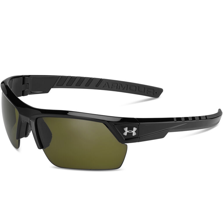 Under Armour Igniter 2.0 Sunglasses - Satin Black & Charcoal Gray - Game Day Lenses