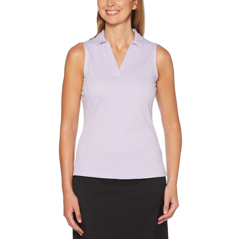 Lilac and Navy Group: Airflux™ Sleeveless Golf Polo Shirt