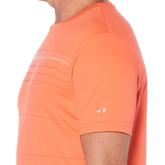 Alternate View 1 of Grand Slam Striped Front Panel Short Sleeve Tee Shirt