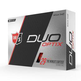 Wilson Staff DUO Soft Optix Red Golf Balls - Personalized