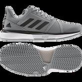 Alternate View 2 of Courtjam Bounce Men's Tennis Shoe - Grey/Black