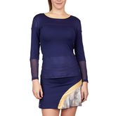 Allure Collection:  Long Sleeve Mesh Accents Top