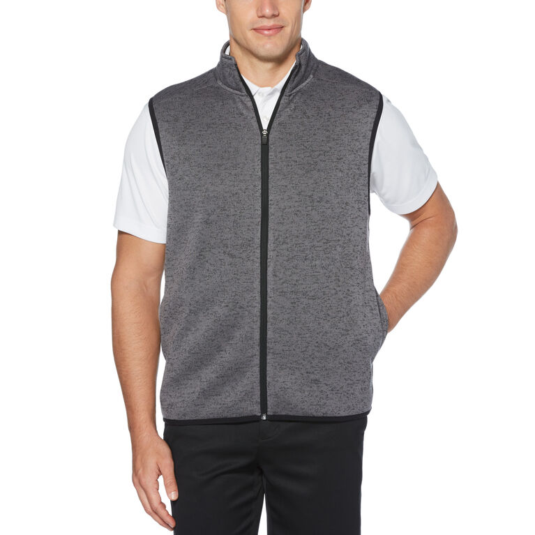 PGA TOUR Mens Heather Fleece Back Vest