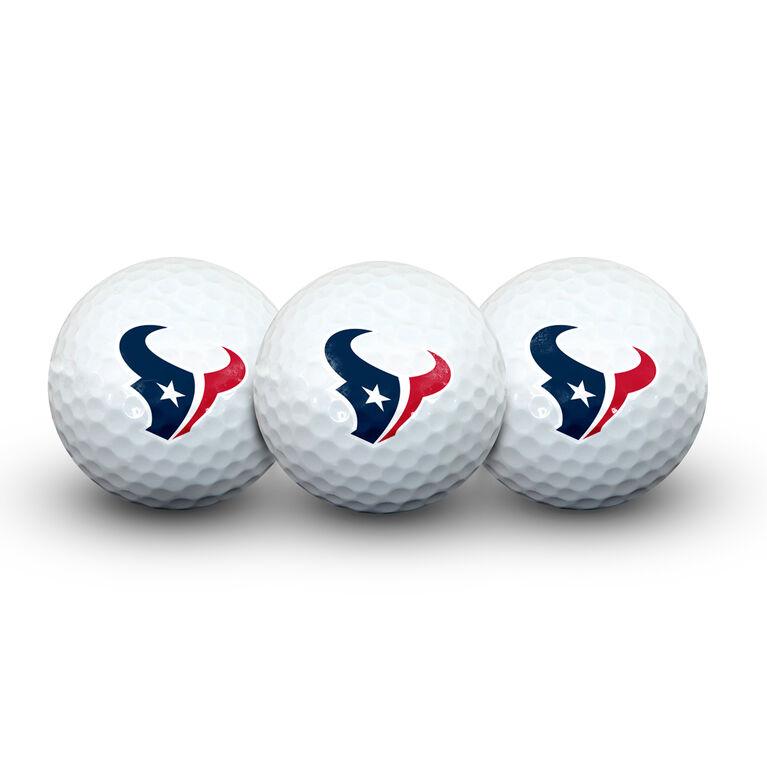 Team Effort Houston Texans Golf Ball 3 Pack