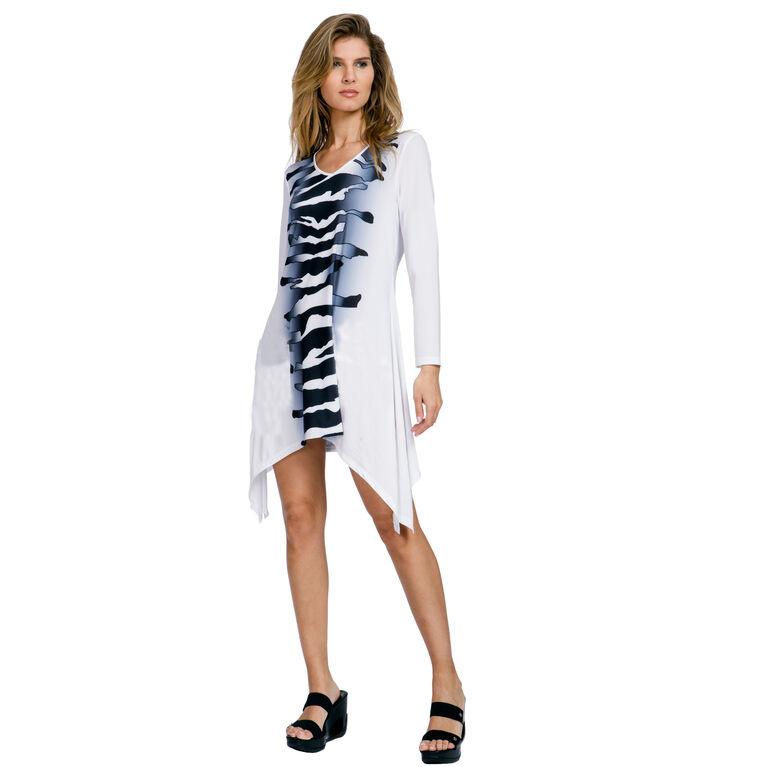 Sunsense - Long Sleeve Zebra Print Dress