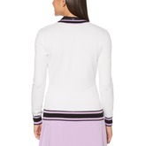 Alternate View 1 of Lilac Collection: Coolmax Long Sleeve Golf Sweater