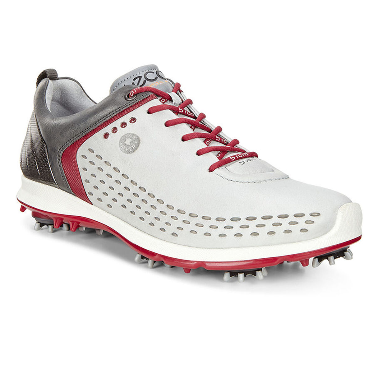 f3145f8e4fba ECCO BIOM G2 Men s Golf Shoe - Grey Red