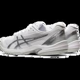 Alternate View 6 of Court Speed FF Men's Tennis Shoe - White/Silver