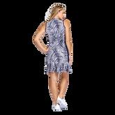 Alternate View 2 of Aspen Ray Collection: Nabila Palm Print Sleeveless Dress