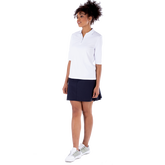Alternate View 1 of Sylvie Elbow Sleeve Polo Shirt