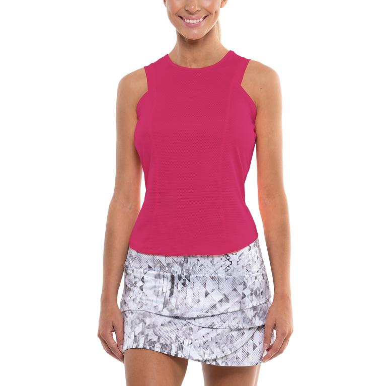 Geo Scalloped Tennis Skirt