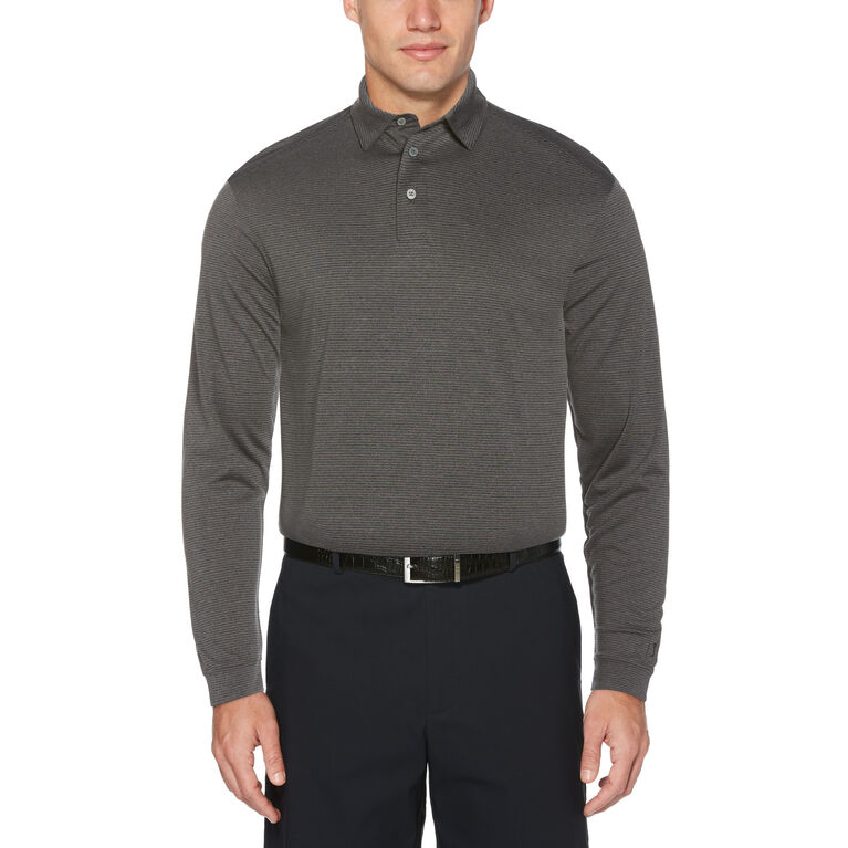 Feeder Stripe Long Sleeve Golf Polo Shirt