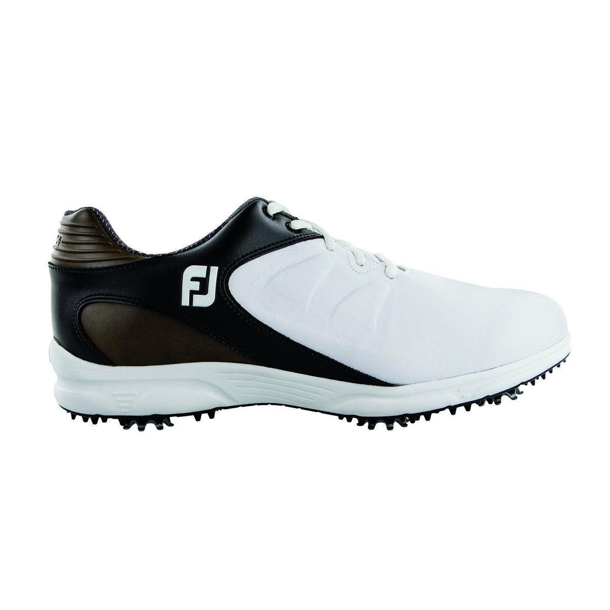 970efd575182f FootJoy ARC XT Men's Golf Shoe - White/Brown | PGA TOUR Superstore