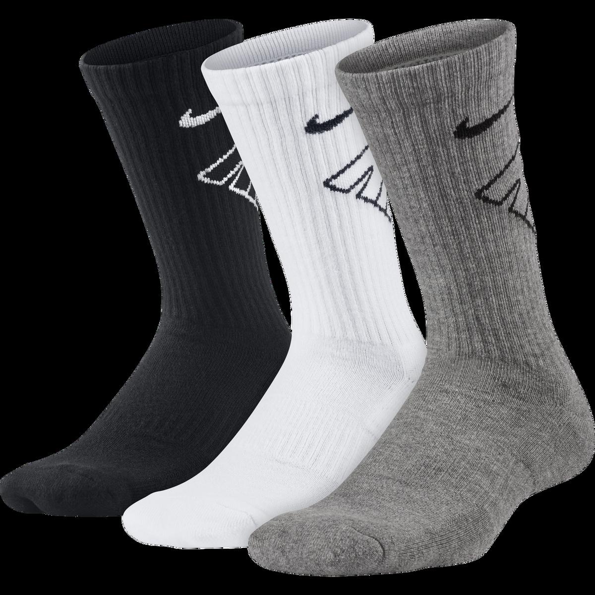 Nike Kids Performance Cushioned Crew Training Socks (3 Pair)