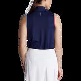 Alternate View 3 of Tri Color Sleeveless Quarter Zip Polo Shirt