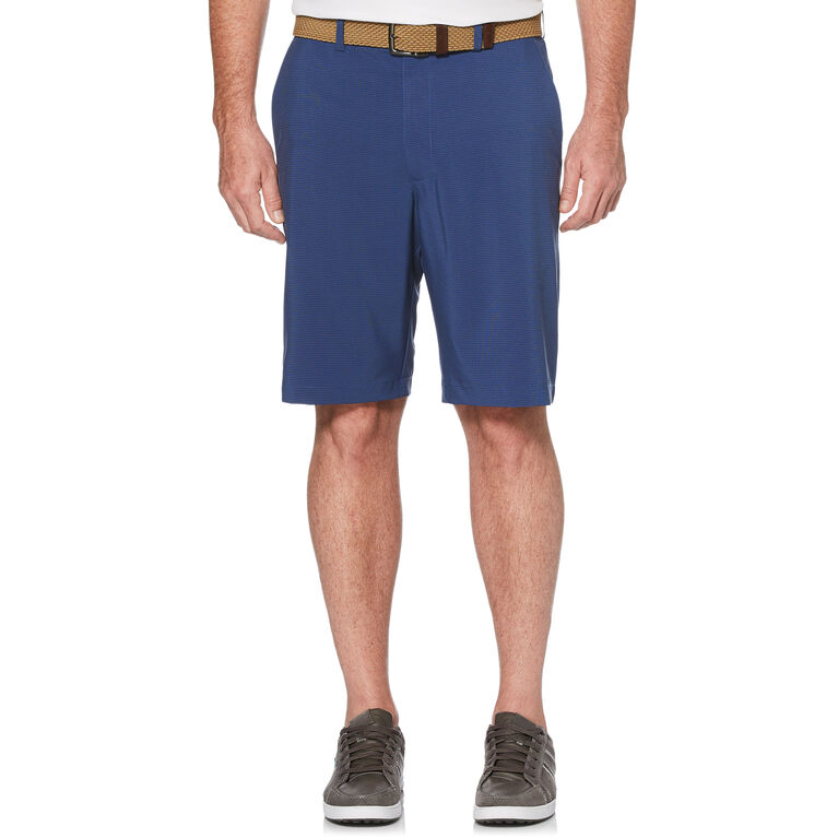 Two Tone Flat Front Golf Short with Active Waistband