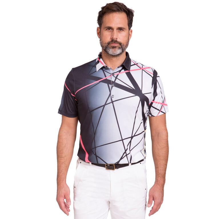 Short Sleeve Lines Polo