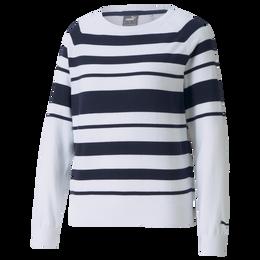 Ribbon Stripe Long Sleeve Sweater