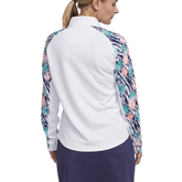 Alternate View 2 of Tropical Collection: Long Sleeve Printed Quarter Zip Pull Over
