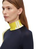 Alternate View 2 of Clemence Soft Compression Color Block Mock Neck Shirt