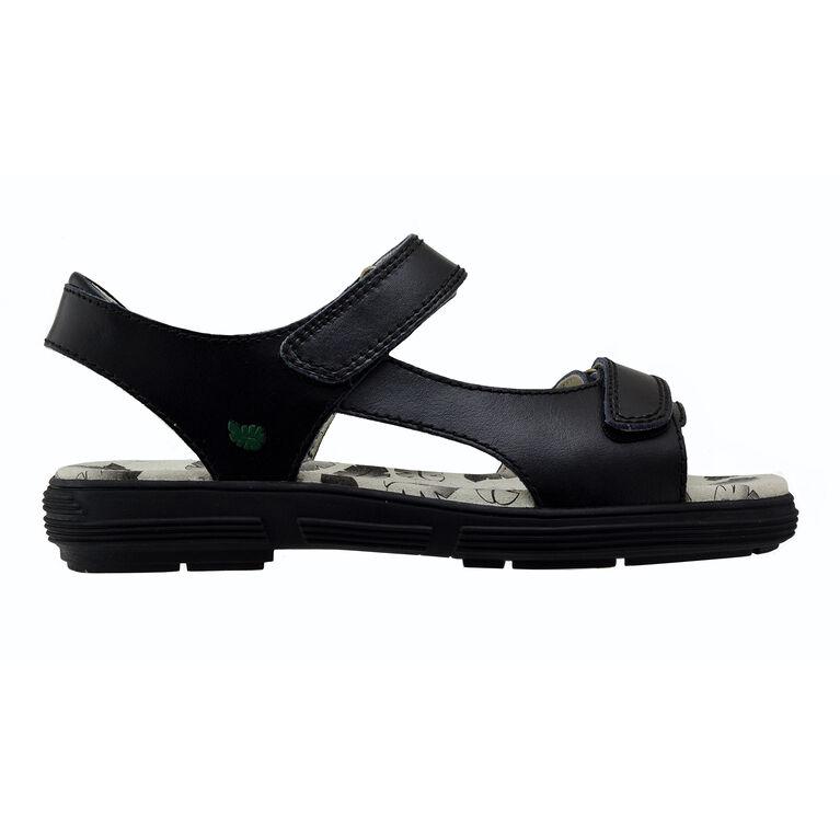 Two Strap Classic Spikeless Women's Golf Sandal - Black