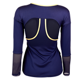 Alternate View 3 of Allure Collection:  Long Sleeve Mesh Accents Top