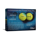 Alternate View 1 of Tour Soft Yellow Golf Balls - Personalized