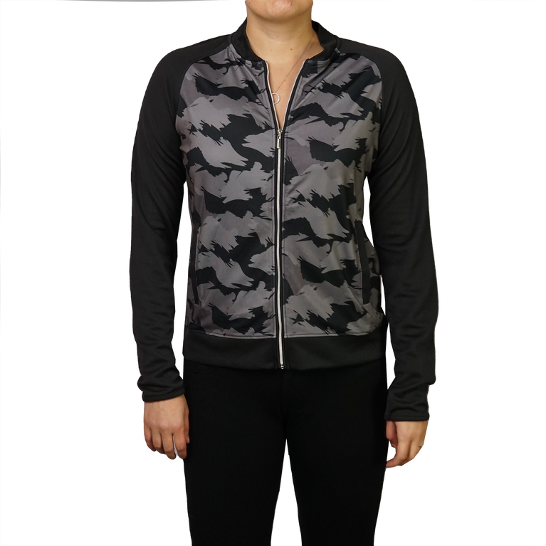 Caviar Collection: Camo Print Bomber Jacket