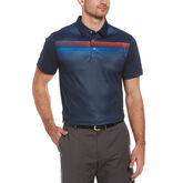 Geo Ombre Print Short Sleeve Golf Polo Shirt