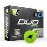 DUO Optix NFL Golf Balls - Carolina Panthers