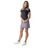 Alternate View 1 of Red Dimension Collection: Malia Navy Short Sleeve Polo Shirt