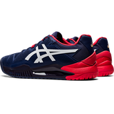 Alternate View 4 of GEL RESOLUTION 8 Men's Tennis Shoes - Navy/Red