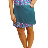 Butterfly Collection: Asymmetric Hem Skort with Print Accents