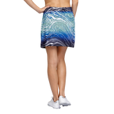 Alternate View 2 of Palm Springs Collection: Darby Water Print Straight Pull On Skort