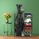 Golf Gifts & Gallery Black Metal Golf Bag Organizer lifestyle